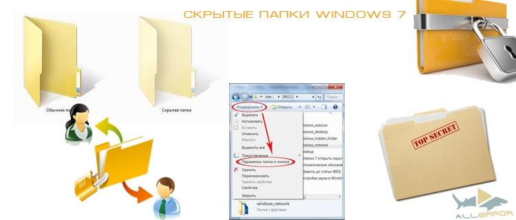 Скрытые папки в Windows 7 и их отображение