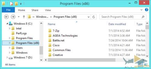 64-разрядных версиях Windows