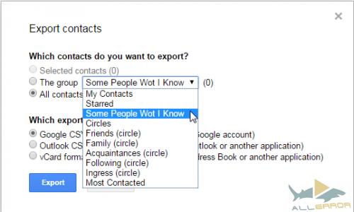 Контакты Gmail
