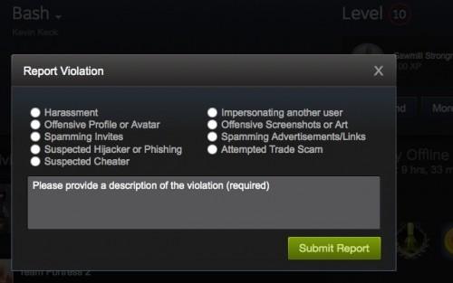 Steam позволяет вам выбрать одну из нескольких категорий