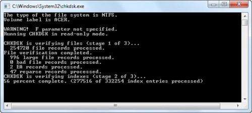 Почему CHKDSK работает при загрузке?