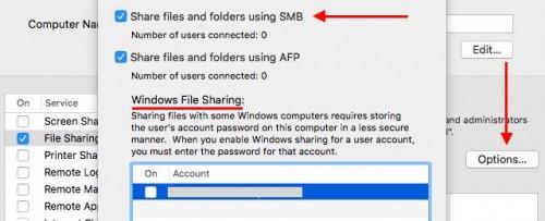 Обмен файлами с Windows