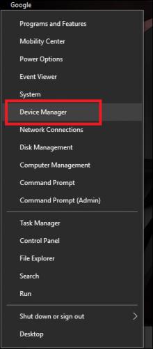Откройте диспетчер устройств Windows