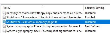 Как настроить очистку файла подкачки при каждом выключении в Windows 10, 8 и Windows 7