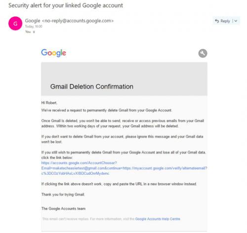 Как удалить Gmail