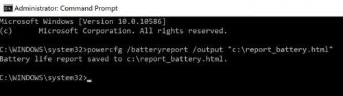 Как проверить состояние батареи ноутбука в Windows 10